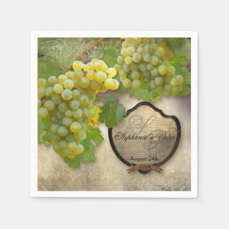 Wedding Reception Bridal Shower Vineyard Winery Paper Napkin