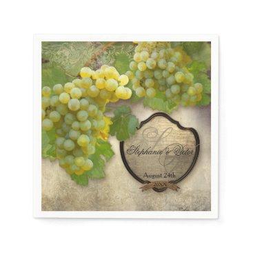 luxuryweddings Wedding Reception Bridal Shower Vineyard Winery Paper Napkin