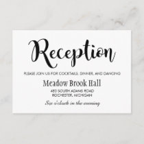 Wedding Reception Card | Black Script