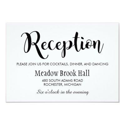 Reception Card | Black Chalkboard Charm | Zazzle