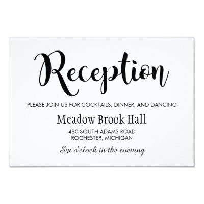 reception card black chalkboard charm zazzlecom - Wedding Reception Invites