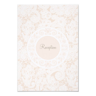 Wedding Reception Card Champagne Ivory Lace