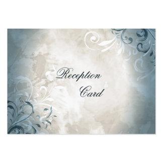 Wedding Reception Card Elegant Vintage Foliage Large Business Card