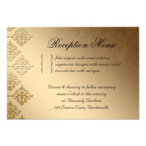 Wedding Reception Card Indian Damask Baby Pink 35 X 5 Invitation Card