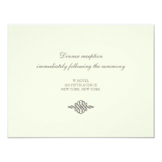 Wedding Reception Card // The Elegance Collection