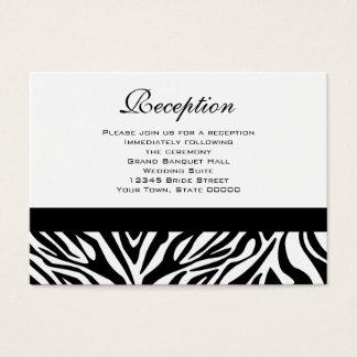 Wedding Reception Cards Black and White Zebra