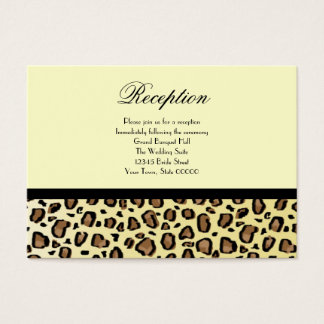 Wedding Reception Cards Leopard Print