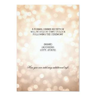 Wedding Reception Copper Glitter Lights 4.5x6.25 Paper Invitation Card