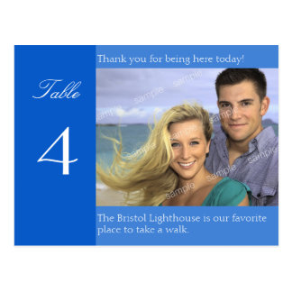 Wedding Reception Custom Photo Table Number Cards