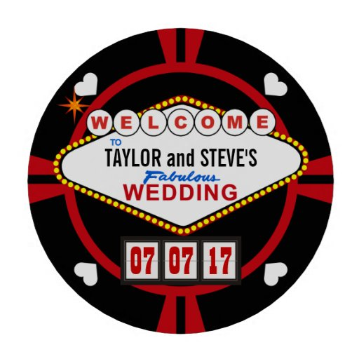 Wedding reception drink tokens vegas casino style set of poker chips