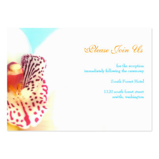 Wedding Reception Enclosure Card Large Business Card