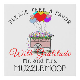 Wedding Reception Guest Favor Sign |