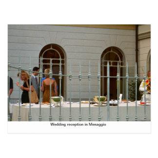 Wedding reception in Menaggio Postcard