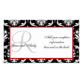 Wedding Reception Invitation Insert Cards Double-Sided Standard Business Cards (Pack Of 100)