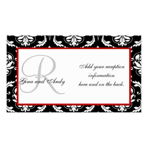 Wedding Reception Invitation Insert Cards Business Card