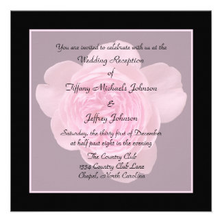Wedding Reception Invites Only -- Rose Invitation