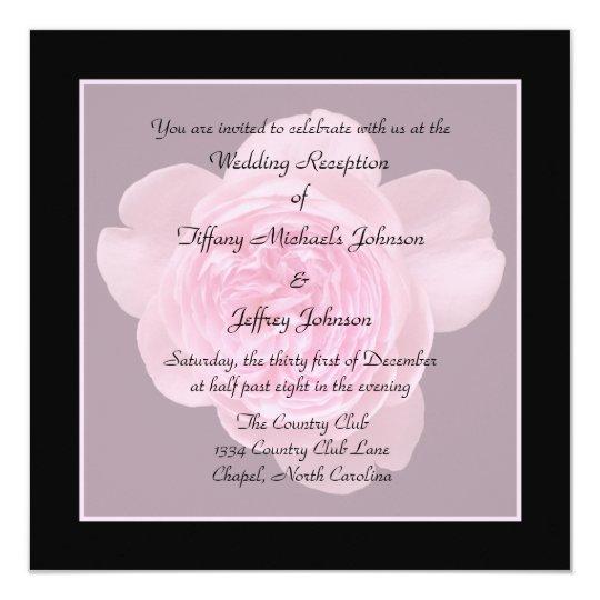 wedding reception invites only rose invitation zazzle com