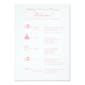 Wedding timeline invitations announcements zazzle wedding reception itinerary timeline card junglespirit Images