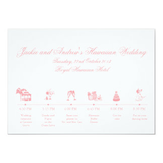 Wedding Reception Itinerary Timeline 5x7 Paper Invitation Card