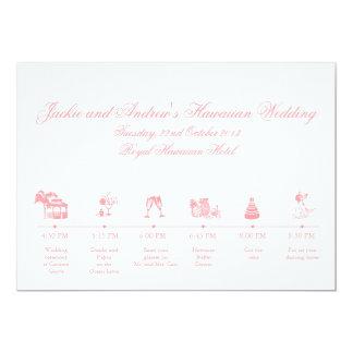 Wedding Reception Itinerary Timeline Invite