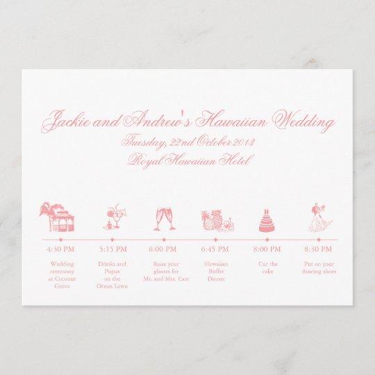 Wedding Reception Itinerary Timeline Program