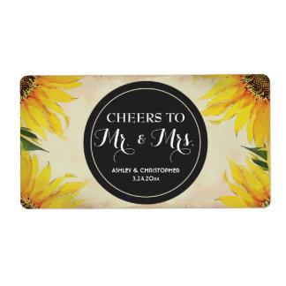 Wedding Reception Mini Champagne Label Favor