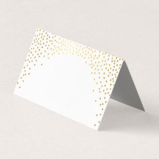 WEDDING RECEPTION modern rustic mini gold confetti Place Card