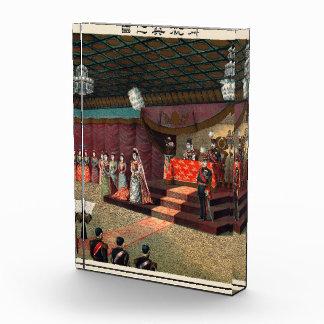 Wedding reception of Crown Prince Yoshihito Acrylic Award