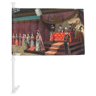 Wedding reception of Crown Prince Yoshihito Car Flag