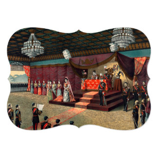 Wedding reception of Crown Prince Yoshihito Card