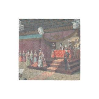 Wedding reception of Crown Prince Yoshihito Stone Magnet