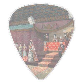 Wedding reception of Crown Prince Yoshihito White Delrin Guitar Pick