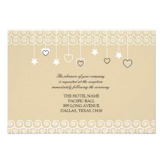Wedding Reception Only Cute Birds Flat Card