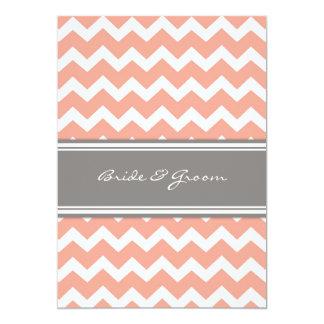 Z Coral Card Coral Grey Wedding Inv...