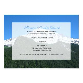 "Wedding Reception Only Invitation  -- Mountain 5"" X 7"" Invitation Card"