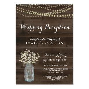 Wedding Reception Only Invitation | Rustic