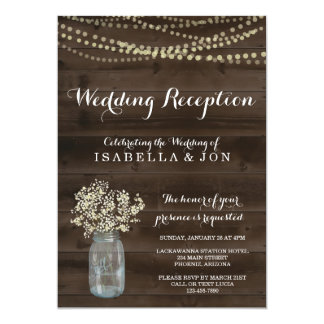 Wedding Reception Only Invitation | Rustic