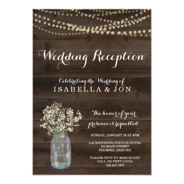 InstantInvitation Wedding Reception Only Invitation | Rustic