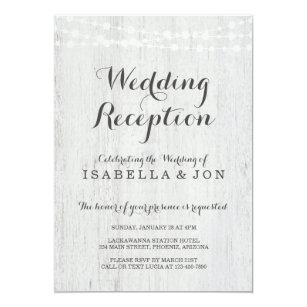 Wedding Reception Only Invitation Rustic Romantic