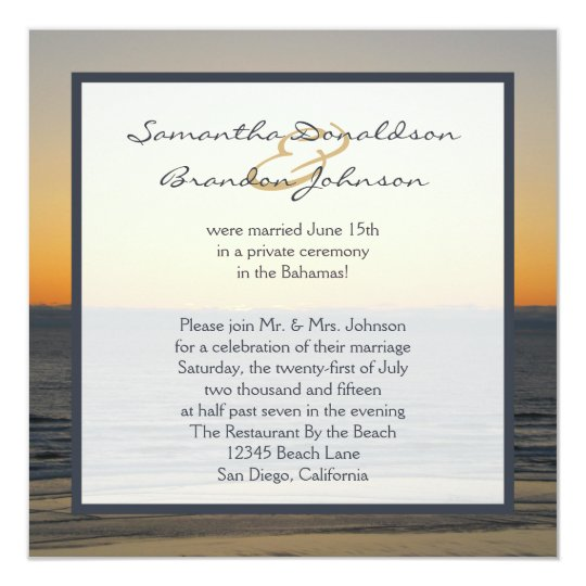 Wedding Reception Only Invitations Zazzlecom