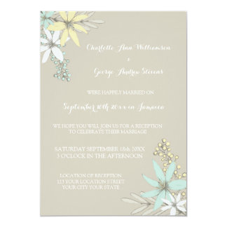 Wedding Reception Only Rustic Spring Flowers Card
