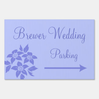 Wedding Reception Parking Direction Welcome Sign