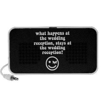 wedding reception portable speaker
