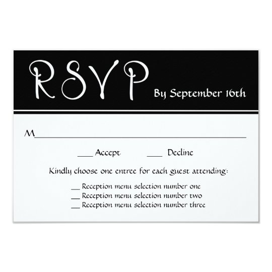 Wedding reception rsvp 3 menu choices response card zazzle wedding reception rsvp 3 menu choices response card stopboris
