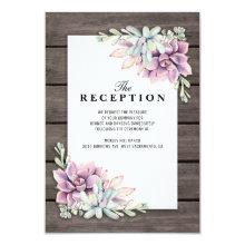 Wedding Reception Rustic Succulent Floral