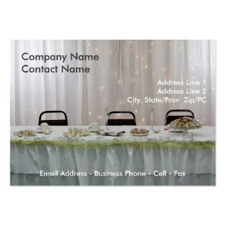 Wedding Reception Seating card template Large Business Cards (Pack Of 100)