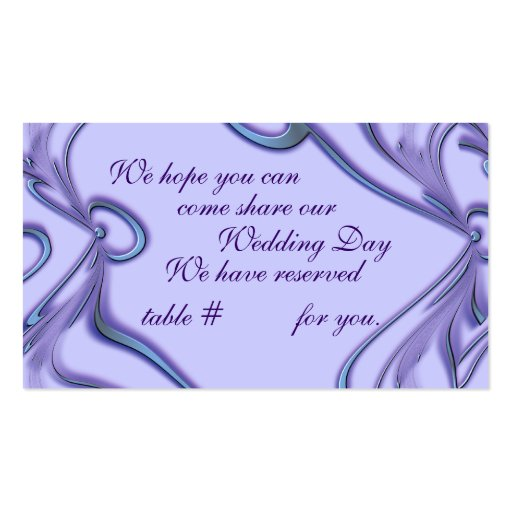 Wedding Reception Seating CArds Customize Business Card Zazzle