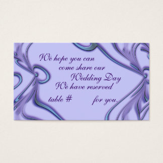 Wedding Reception Seating CArds- customize Business Card