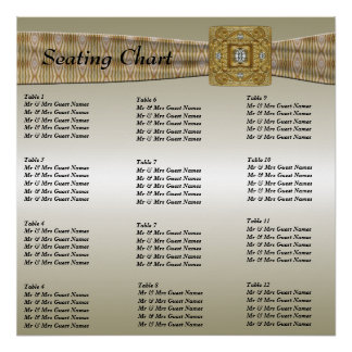 Wedding Reception Seating Chart Poster