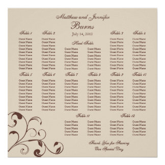 Wedding Reception Seating Chart - Square